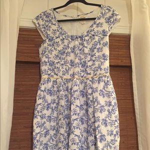 Blue and white Matilda Jane Dress